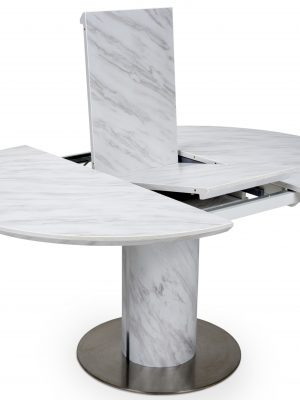 Allure Marble top Round Extending Dining Table