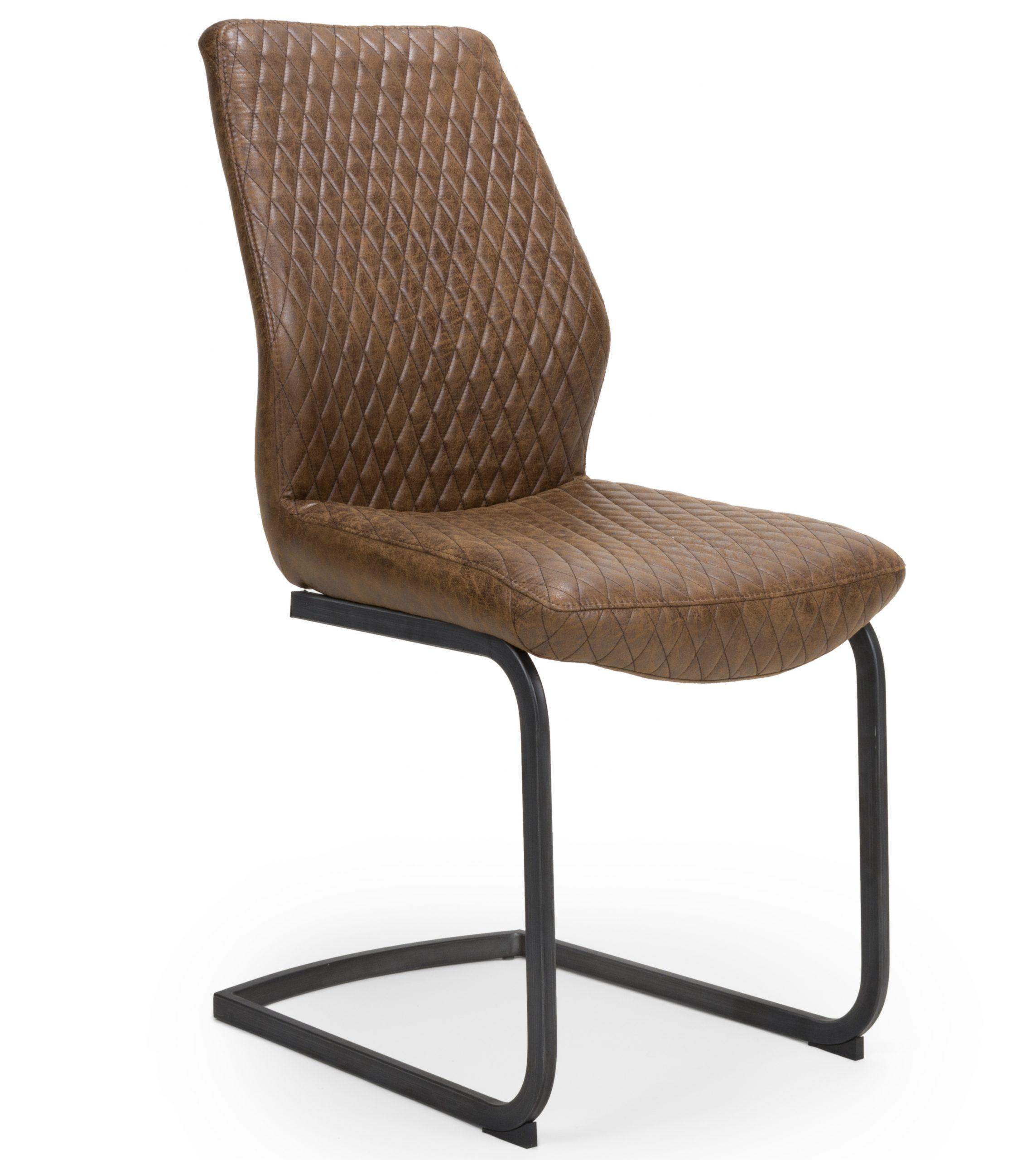 Harley Vintage brown leather dining chair