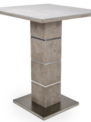 Delta Tall Stone Effect Square Bar Table