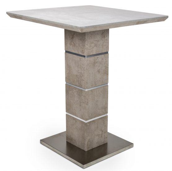 Delta Stone Tall Square Bar Table