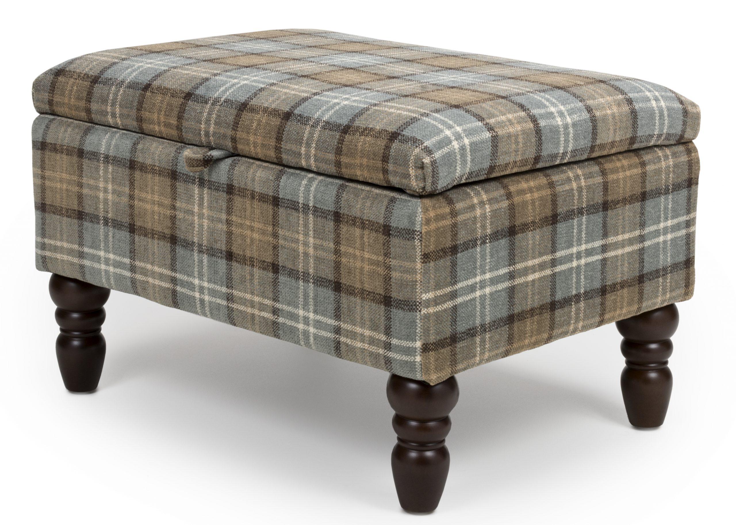 Shetland Dove Grey Storage footstool