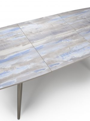 Soho Distressed Painted Wood Extending Dining Table