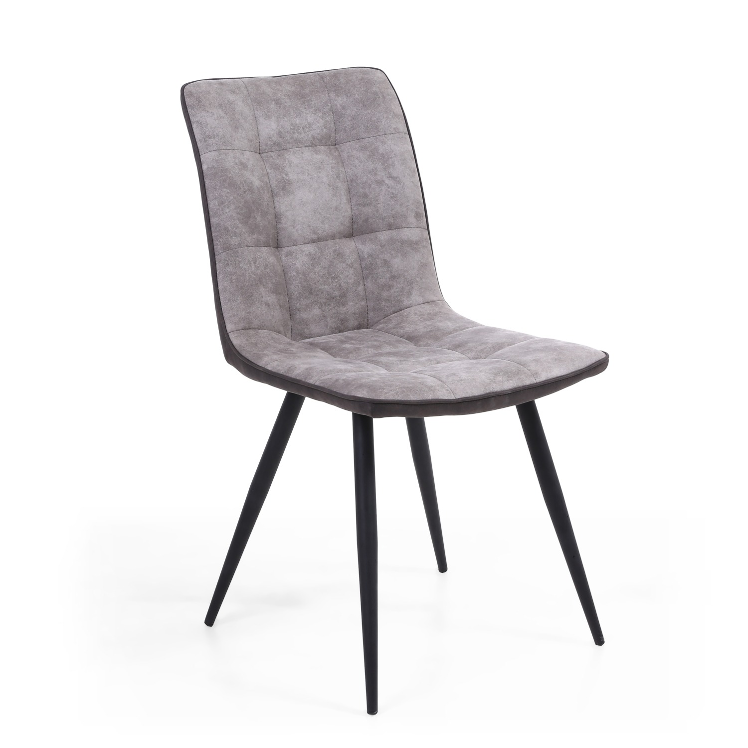 Rodeo Light Grey Faux Suede Contrast Dining Chair