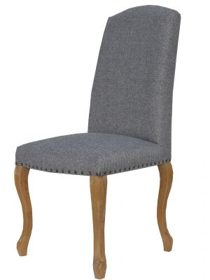 Canterbury Queen Anne Grey Fabric Dining Chair