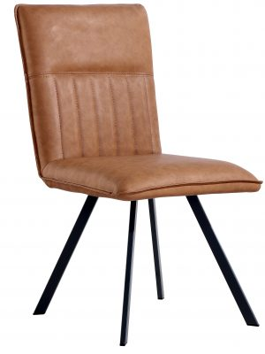 Lyon Vintage Tan Leather Spider Leg Dining Chair