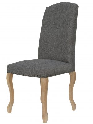 Canterbury Queen Anne Charcoal Grey Fabric Dining Chair