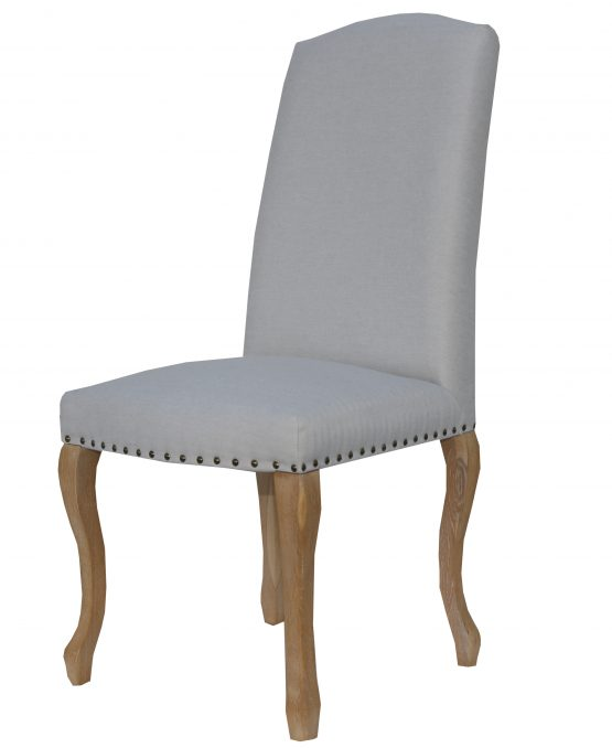 Canterbury queen anne natural fabric dining chair