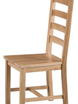 Aspen Ladder Back Oak Dining Chair