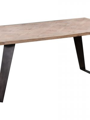Dansk 1.4 Meter Reclaimed Oak Plank Top Contemporary Dining Table