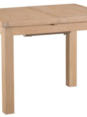 Byron 1 meter Small Extending Limed Light Oak Dining Table