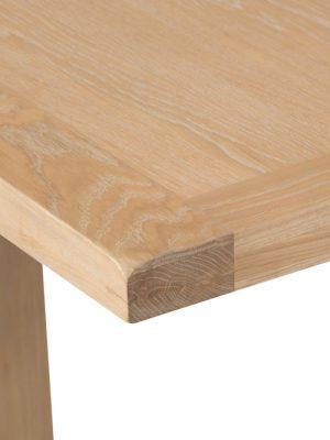 Byron 1.25 meter Standard Extending Limed Light Oak Dining Table