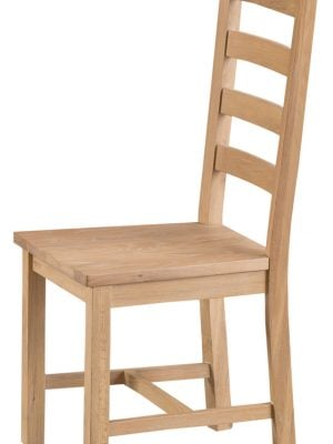 Byron Ladder Back Lime Washed Oak Dining Chair