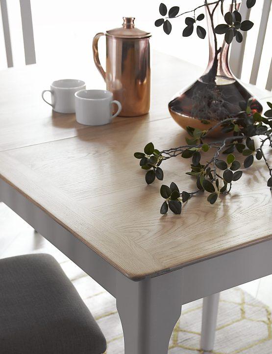 Carlisle 1.2 meter painted grey extending table