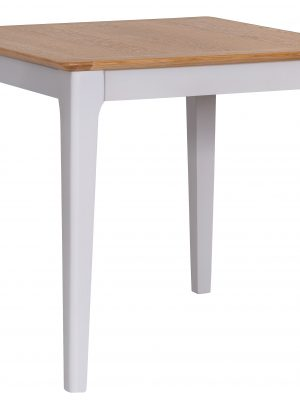 Carlisle Painted Grey Square Dining Table With Oak Top