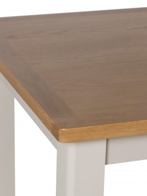 Durham 1.2 Meter Extending Truffle Beige Painted Oak Dining Table