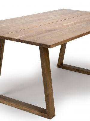 Dylan Solid Acacia Plank Top Contemporary Dining Table
