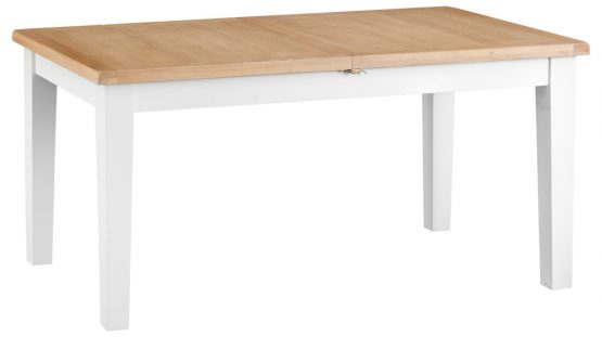 1.6 meter white painted extending dining table