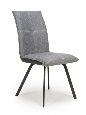 Ariel Light Grey Two Tone Fabric Dining Chair
