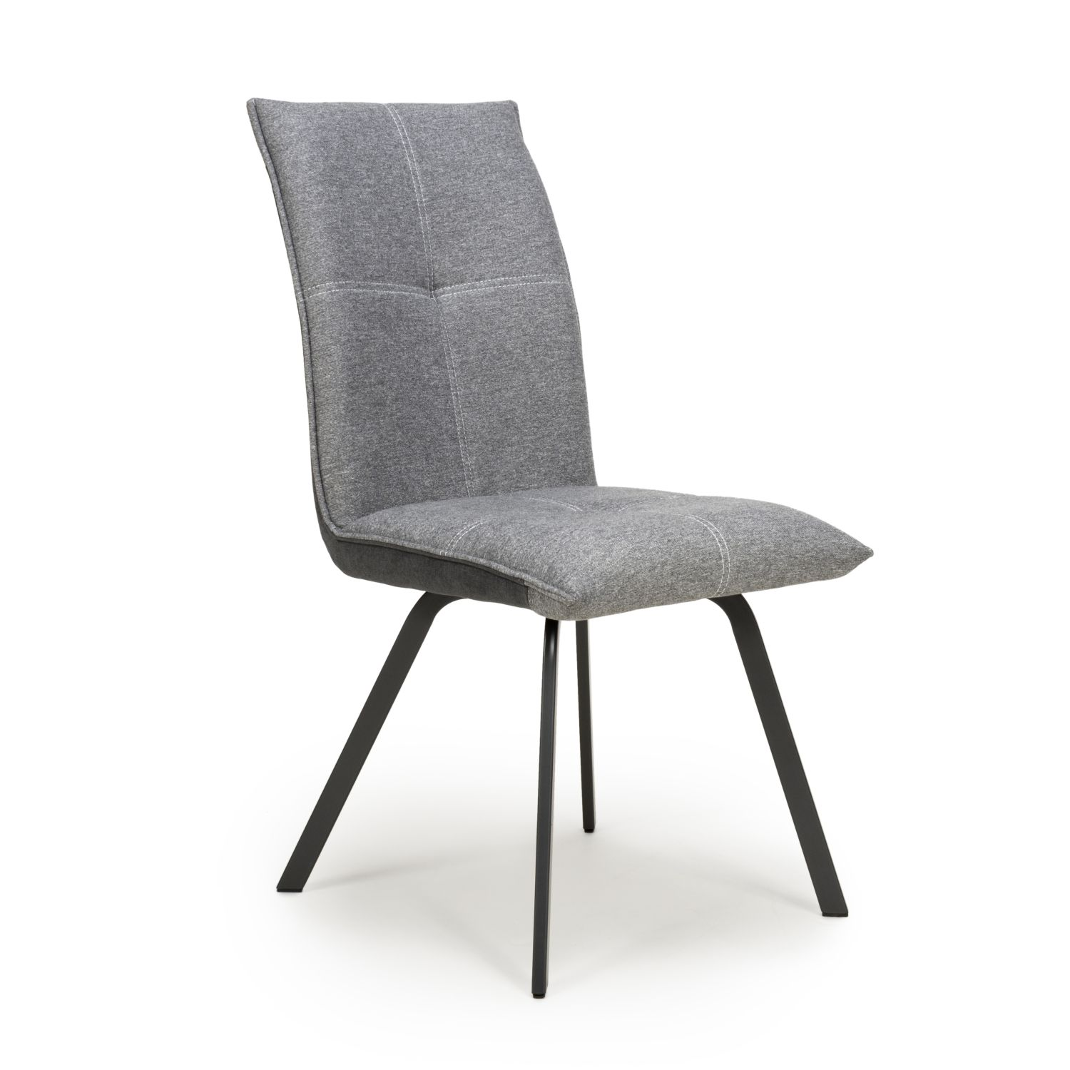 Ariel Light grey two tone chenille fabric dining chair
