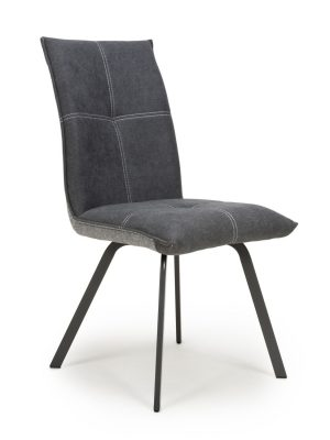 Ariel Dark Grey Two Tone Fabric Dining Chair