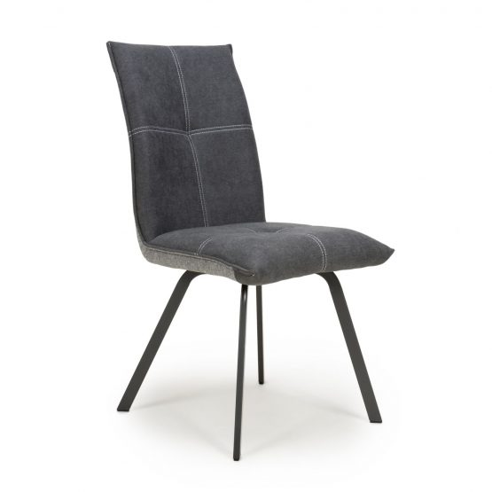 Ariel Dark grey chenille modern dining chair