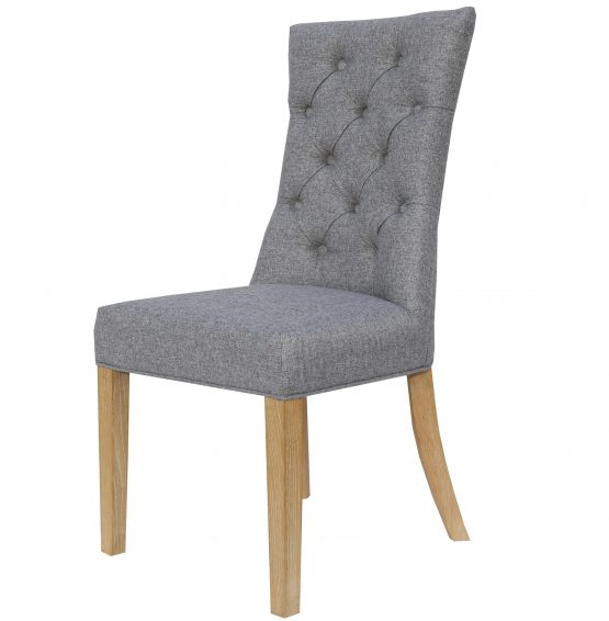 Camberley Grey Linen Fabric dining chairs