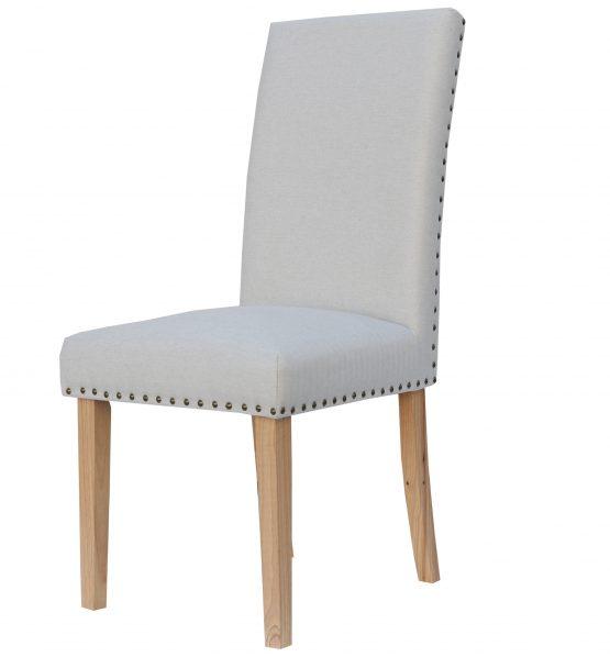 Bromley Natural herringbone fabric dining chair