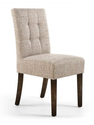 Abby Tweed Fabric Dining Chair With Walnut Legs