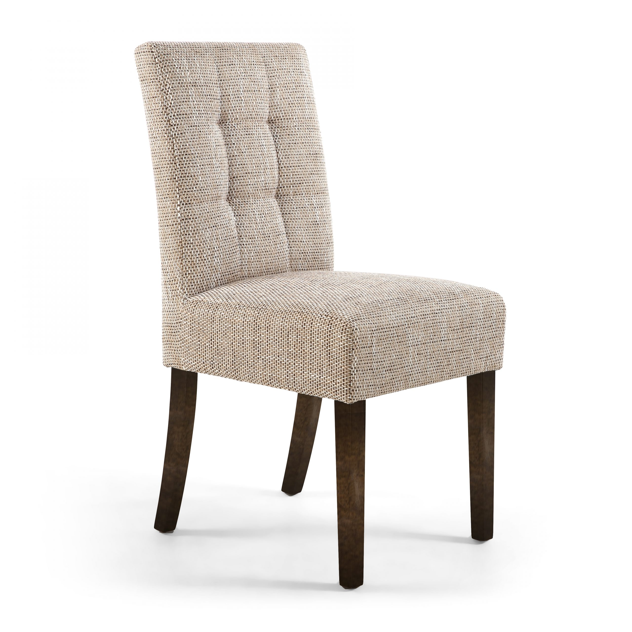 Abby Tweed dining chair with Walnut legs