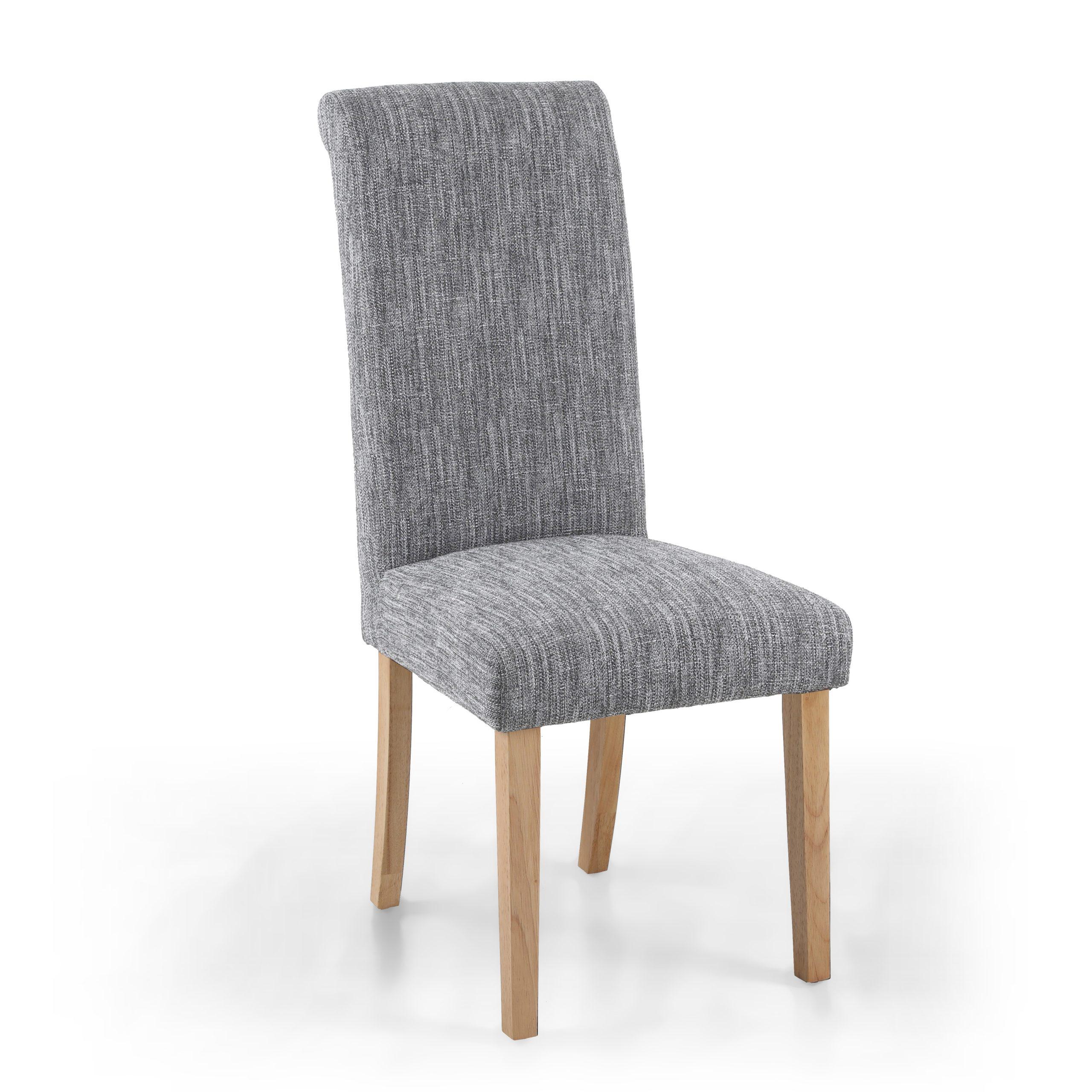 Bexley Light Grey linen fabric dining chair