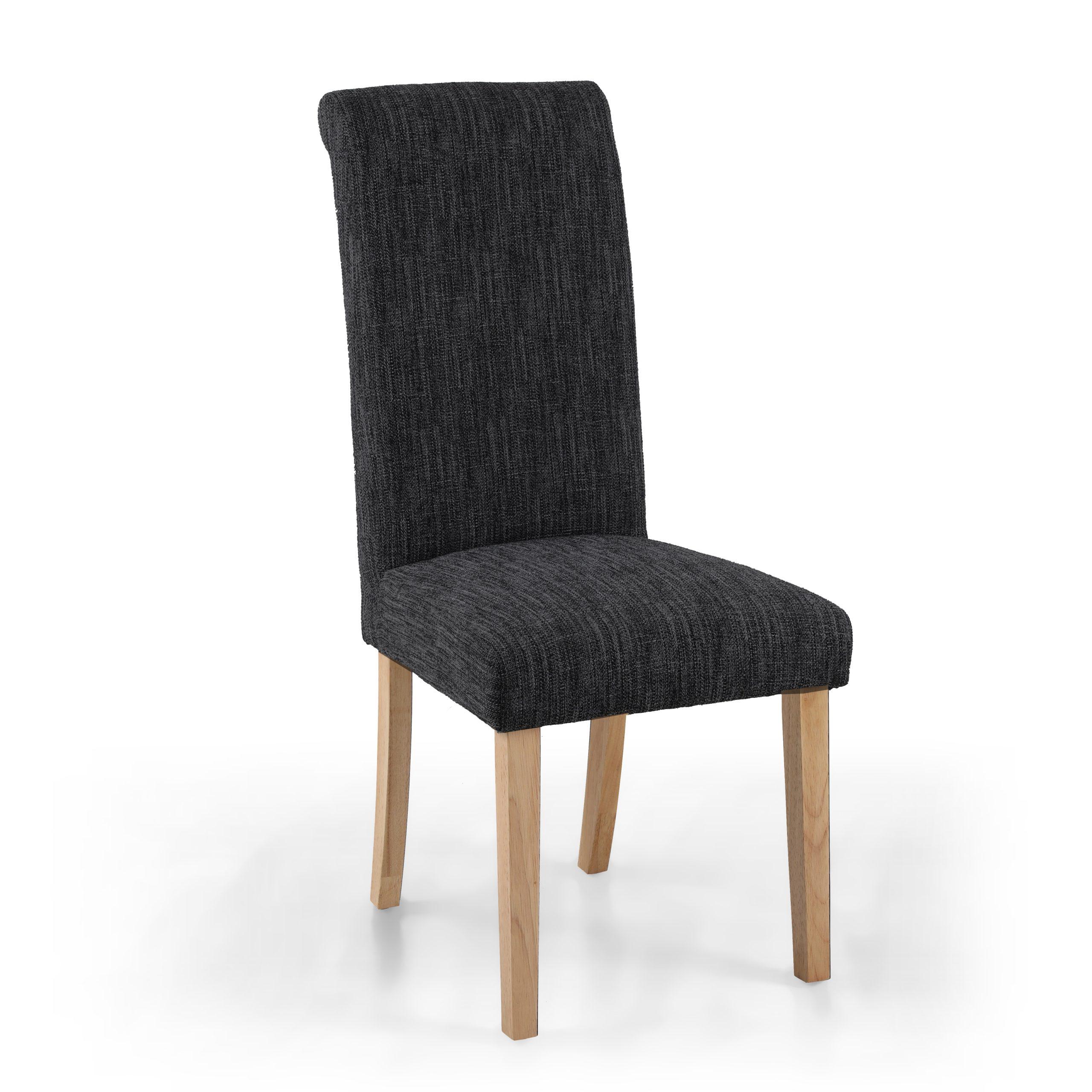 Bexley Dark Grey Linen Dining Chair
