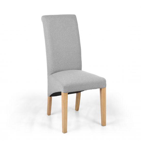 Carrie Light Grey linen dining chair