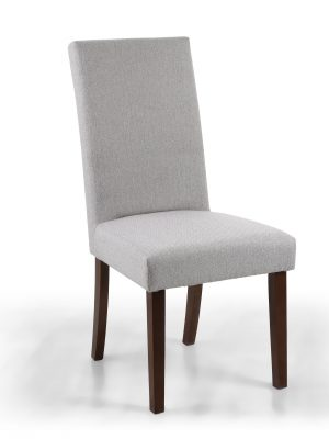 Ripley Cappuccino Herringbone Fabric Dining Chair - Walnut Legs