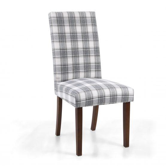 Ripley Tarn Grey dining chair with walnut legs