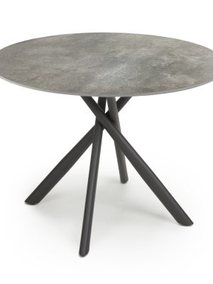 Madison Grey Concrete Effect Round Dining Table