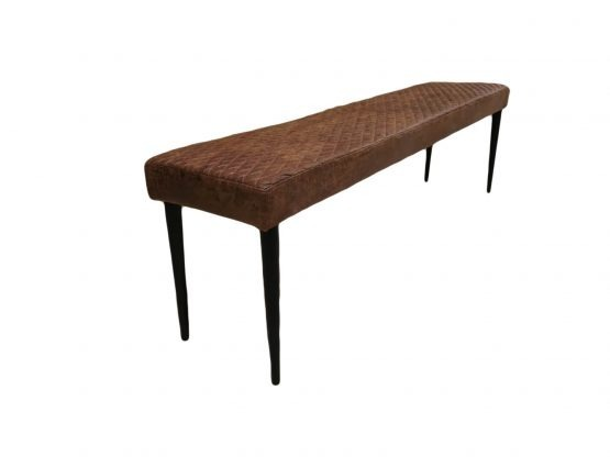 Harley vintage brown leather dining bench