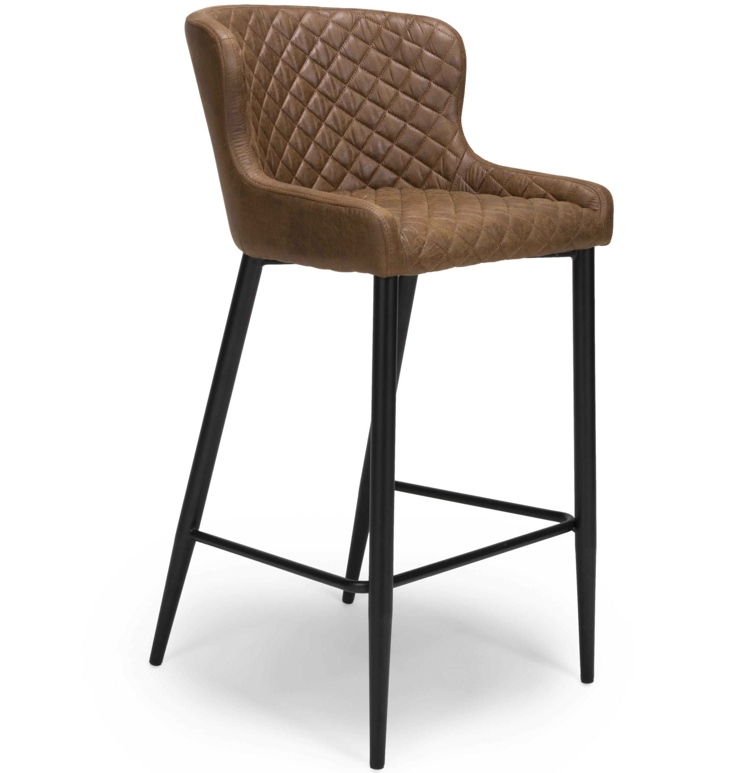 Harley vintage brown leather bar stool