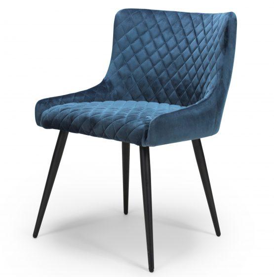 Vienna Blue Velvet dining chair