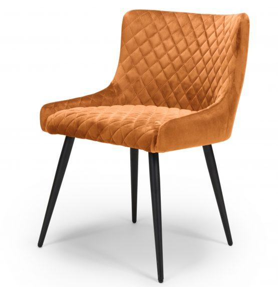 Vienna Orange Velvet Dining chair