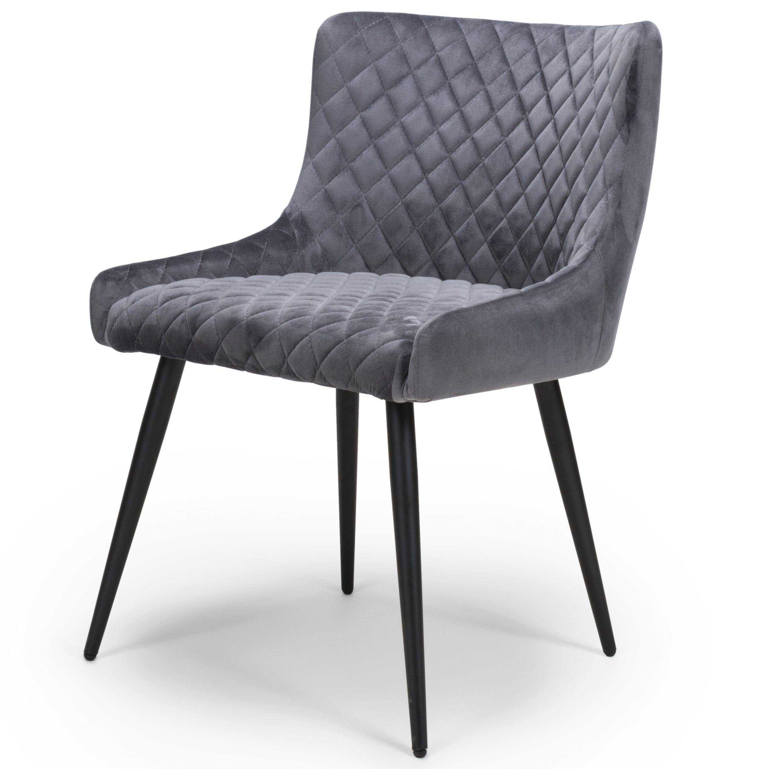 Vienna Grey Velvet Dining Chair