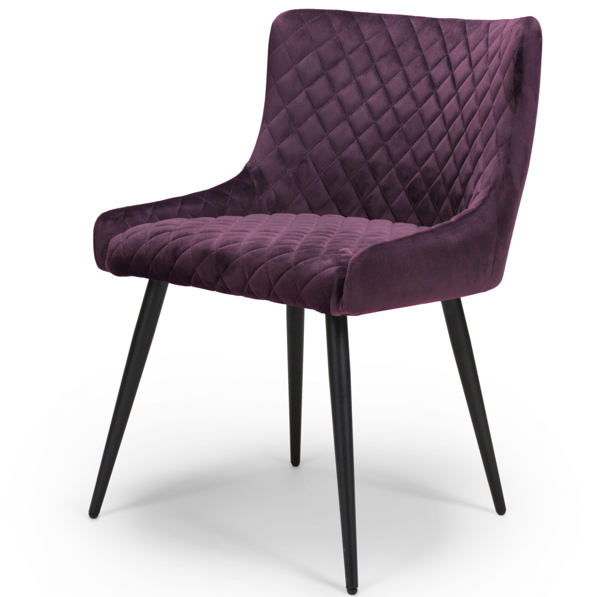 Vienna Purple Velvet dining Chair