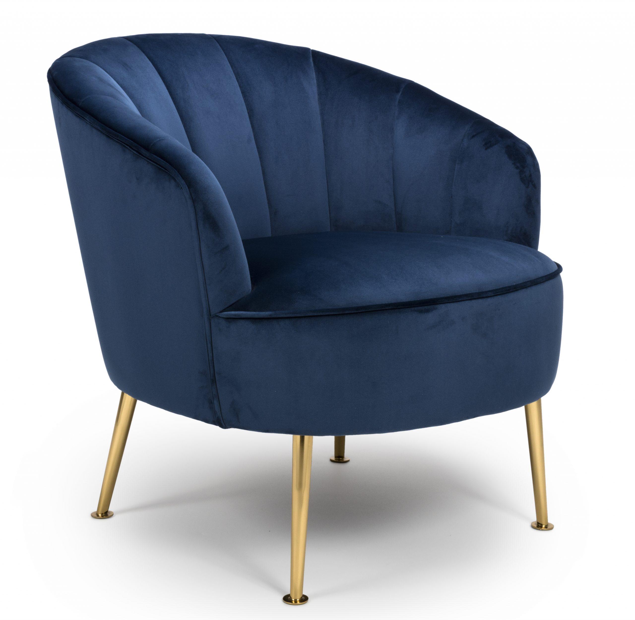 Newport Navy Blue Velvet Tub Chair