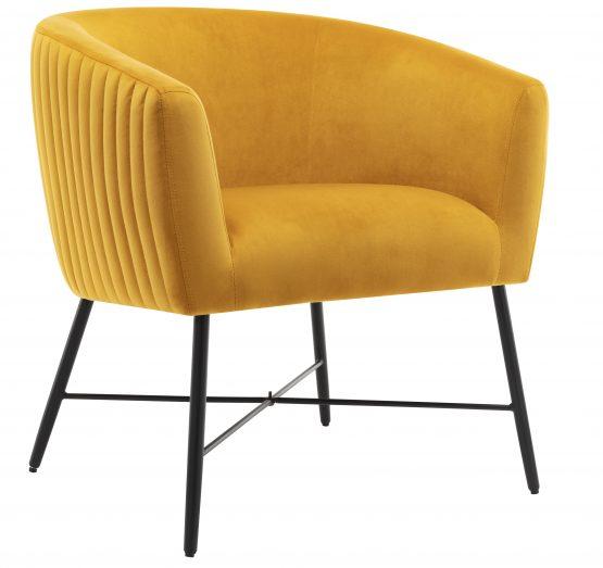 Gwent Yellow velvet tub chair
