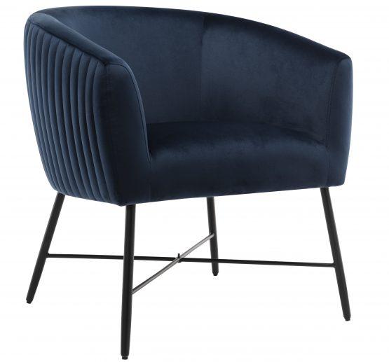 Gwent Navy Blue Velvet Tub Chair