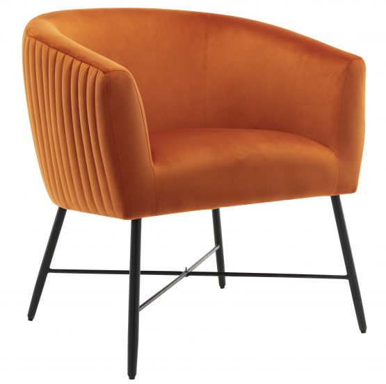 Gwent Orange Velvet Tub Chair