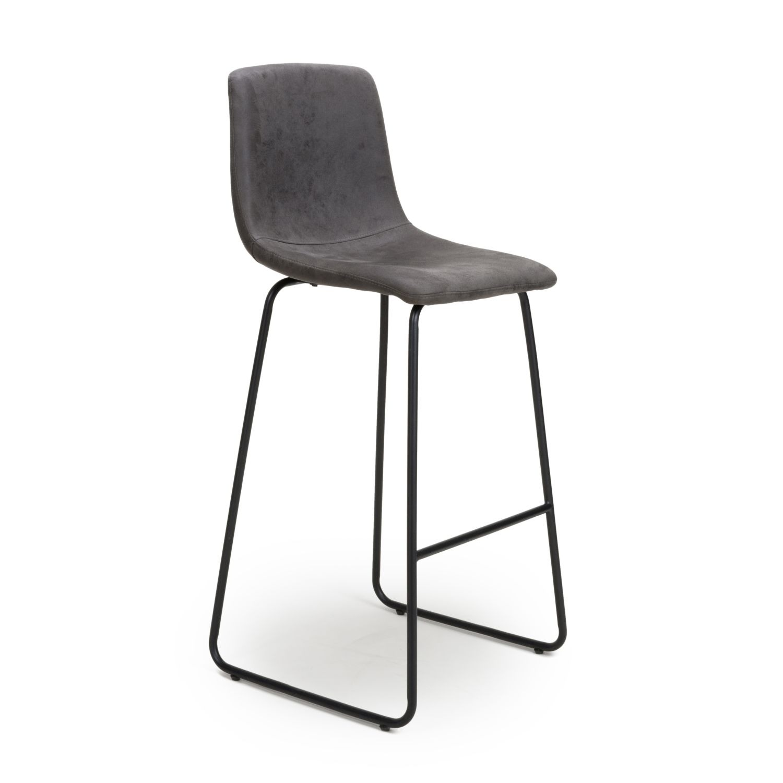 Jena Grey Suede bar stool