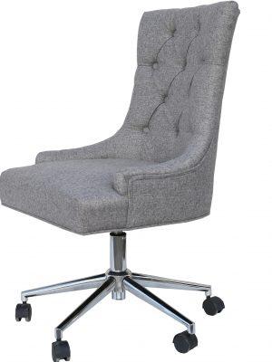 Brent Grey Herringbone Fabric Large Office Chair