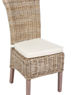 Colonial Rattan Natural Wicker Dining chair
