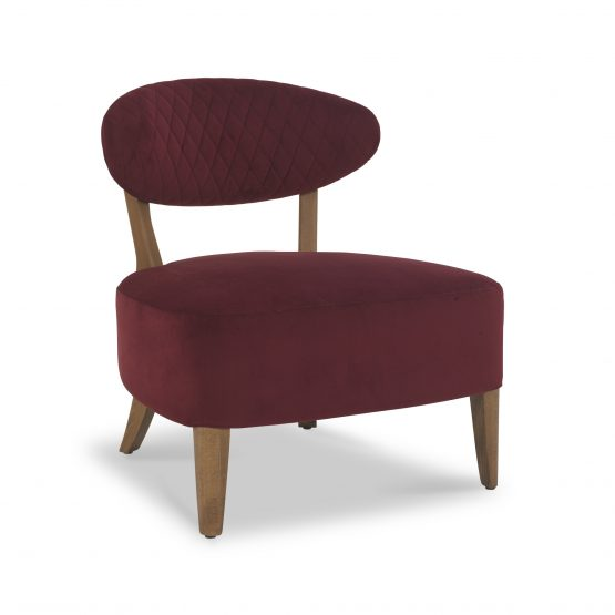 Sheraton Red Velvet Retro lounge chair