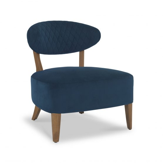 Sheraton Dark Blue Retro Lounge chair